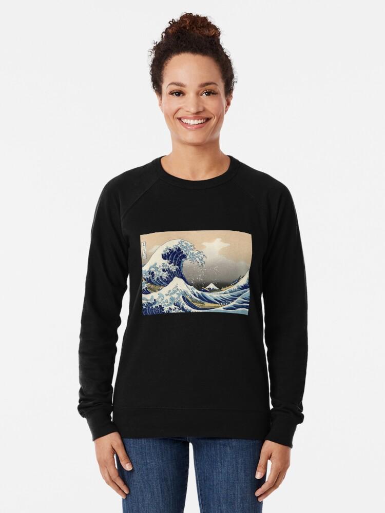 """Alternative Ansicht von """"Die große Welle vor Kanagawa"""" von Katsushika Hokusai (Reproduktion) Leichter Pullover"""