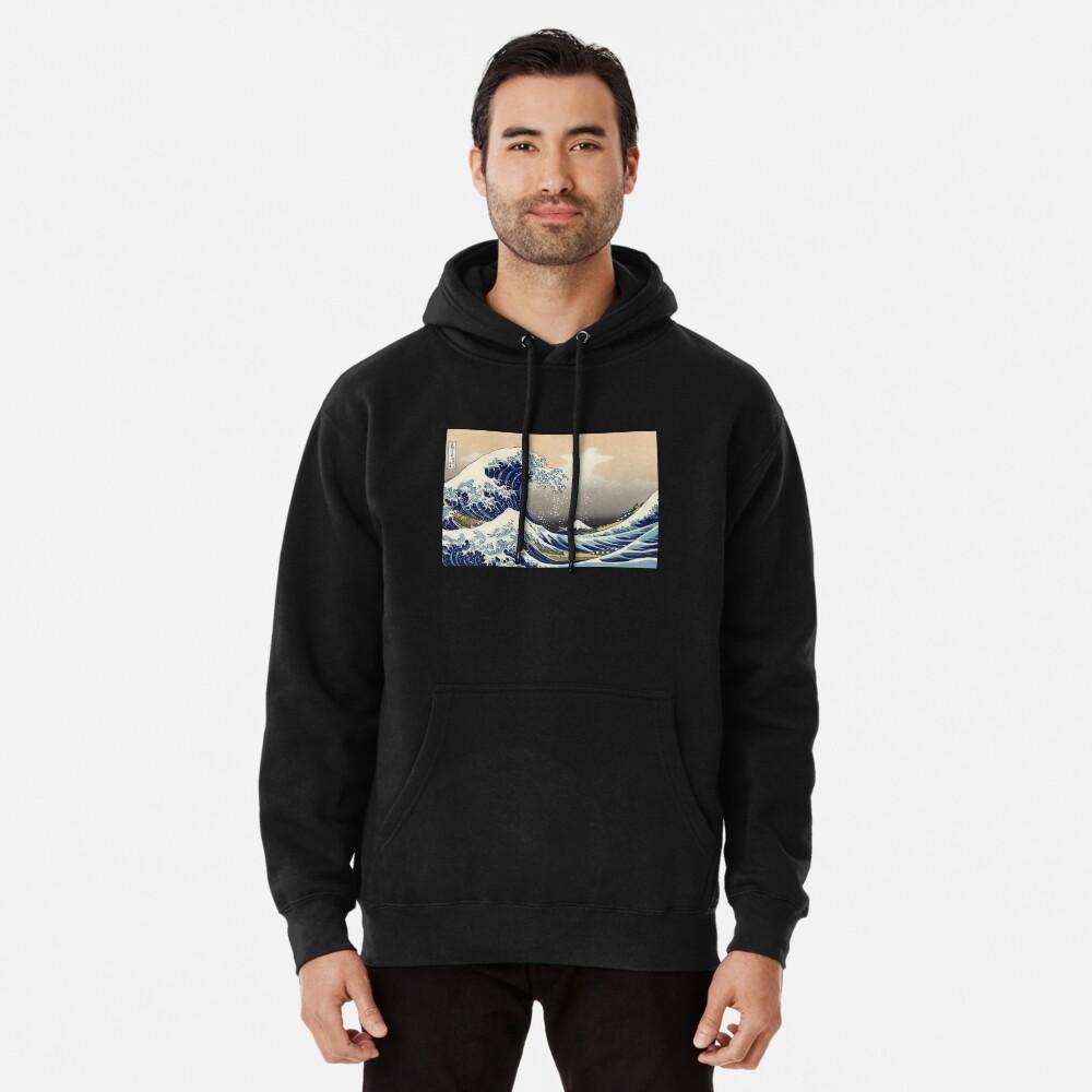 """""""Die große Welle vor Kanagawa"""" von Katsushika Hokusai (Reproduktion) Hoodie"""