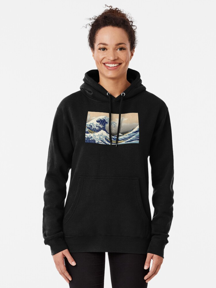 """Alternative Ansicht von """"Die große Welle vor Kanagawa"""" von Katsushika Hokusai (Reproduktion) Hoodie"""