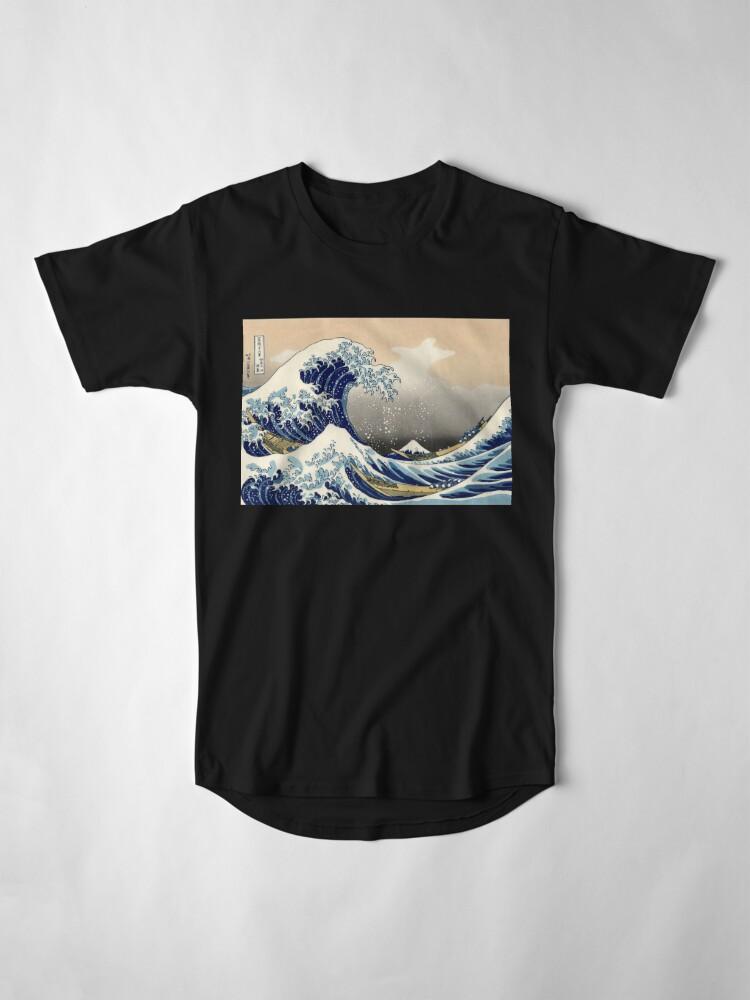 """Alternative Ansicht von """"Die große Welle vor Kanagawa"""" von Katsushika Hokusai (Reproduktion) Longshirt"""