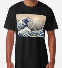 Camiseta larga 'The Great Wave Off Kanagawa' de Katsushika Hokusai (Reproducción)