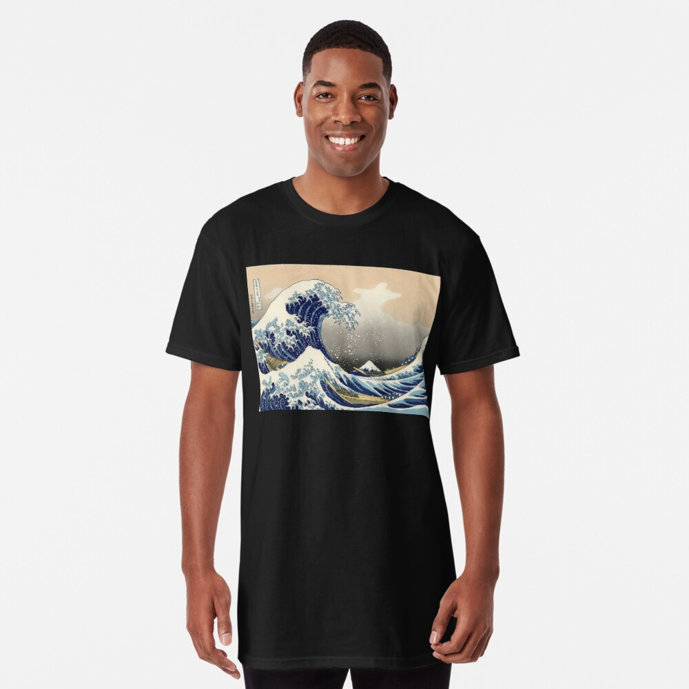 """Die große Welle vor Kanagawa"" von Katsushika Hokusai (Reproduktion) Longshirt"