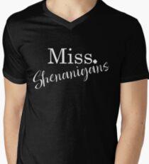 Miss Shenanigans St Patrick's Day design Men's V-Neck T-Shirt