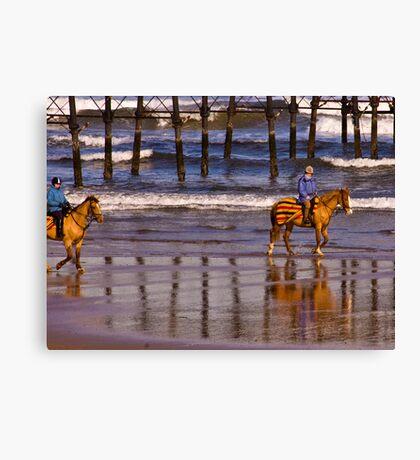 Ride Along The Beach - Saltburn Canvas Print
