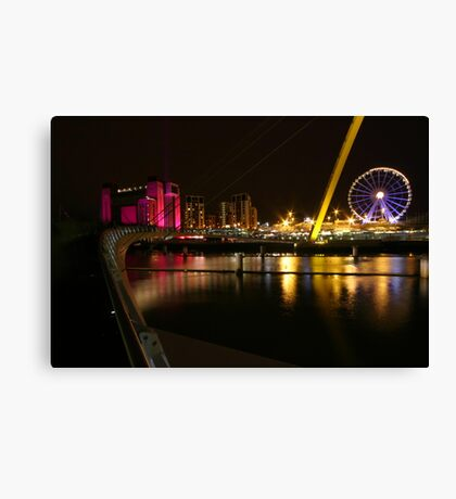 Newcastle nightscape Canvas Print