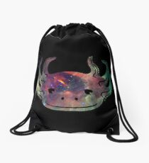 Space Axolotl Drawstring Bag
