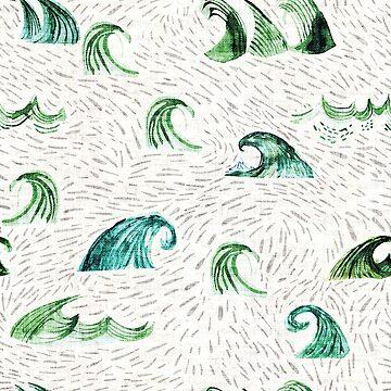 Atlantis Waves  by nouveaubohemian