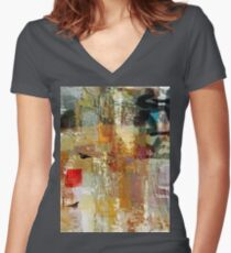 Skylark in the winter Women's Fitted V-Neck T-Shirt