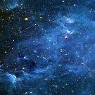 North America Nebula Infrared Enhanced Deep Blue by sandyspider