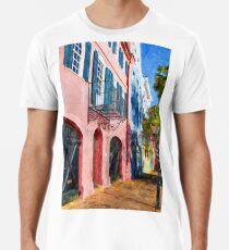 Charleston Rainbow Houses Painted Premium T-Shirt