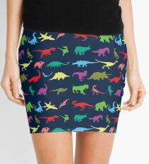 Colorful Mini Dinosaur  Mini Skirt