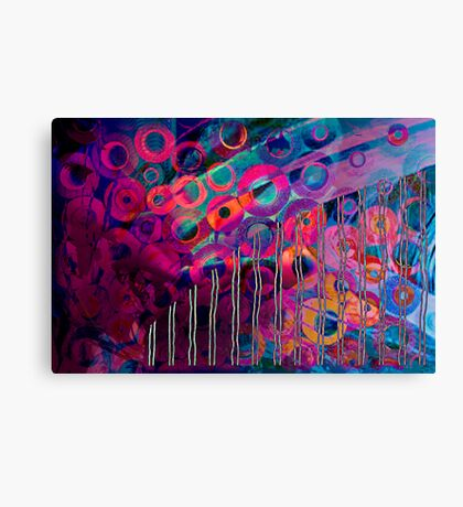 Circular patterns in a straight world Canvas Print