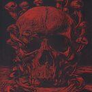 Totenkopf mit Pilzen von MushroomOTD