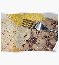 Corn, Noodle Salad And Sirloin Steak Poster