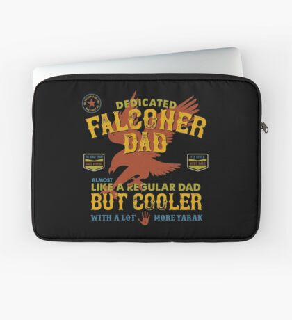 Fun Falconry Dad Gifts and Clothing Falcon Hawking Fathers and Falconry Dads Laptop Sleeve
