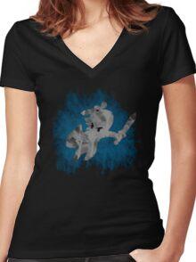 The Minish Brush Blue Women's Fitted V-Neck T-Shirt