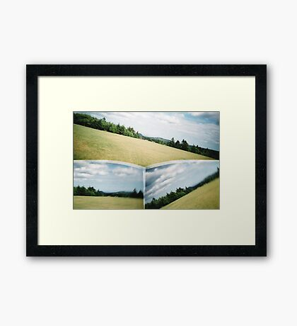 Lost in the Field Framed Print