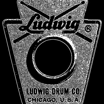 Vintage Ludwig Drum Badge 1968-Music-Rock-Blues-Jazz by carlosafmarques