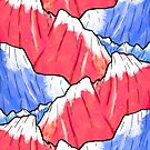 The red and blue peaks by steveswade