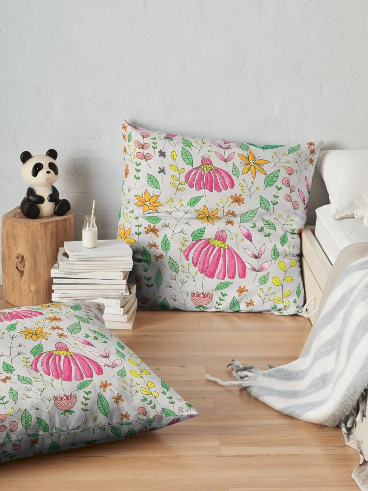 Alternate view of Serumpun - Light Grey Floor Pillow