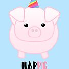 PIG Birthday - Happig birthday - Pun - Party - Gift - Present - Party Pig - Hog - Cute - Fun  by JustTheBeginning-x (Tori)