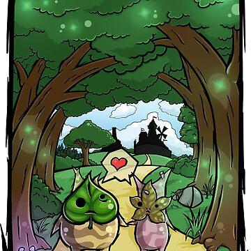 La leyenda de Zelda Wind Waker Korok Love de Purrdemonium