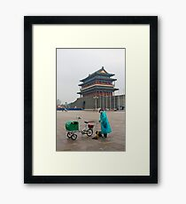 Keeping Tiananmen Square Clean Framed Print