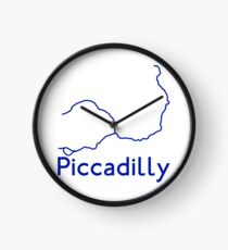 London Underground Piccadilly Line Map Clock