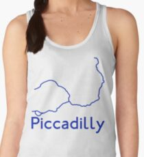London Underground Piccadilly Line Map Women's Tank Top
