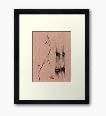 'dance'  brush pen bamboo drawing Framed Print