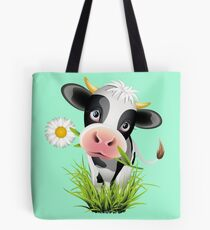 Cute cow with pretty eyes Tote Bag