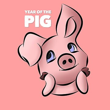 Year of the Pig Design by BossBabeArt