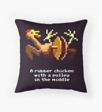 Monkey Island - Rubber chicken with a pulley in the middle Throw Pillow