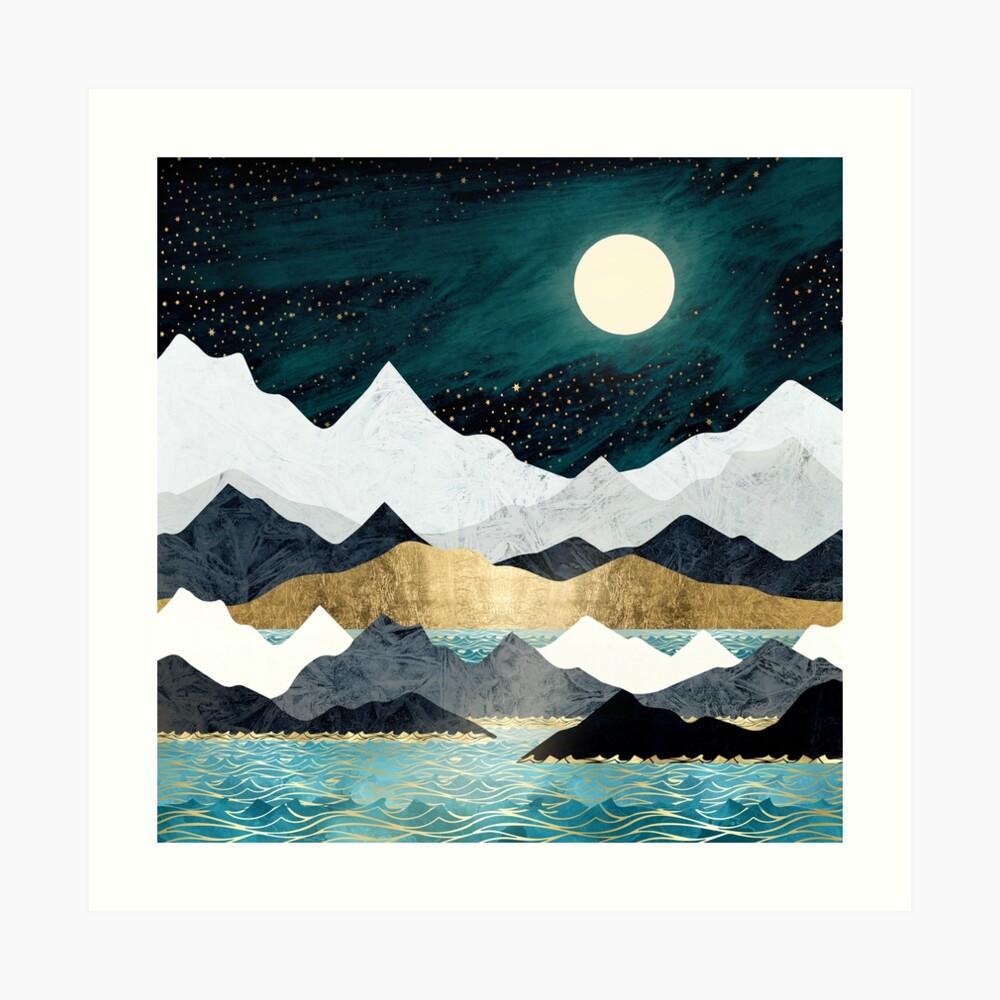 Estrellas del océano Lámina artística
