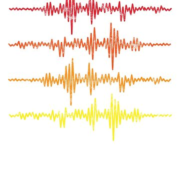 Music Vintage Sound Waves by inkedtee
