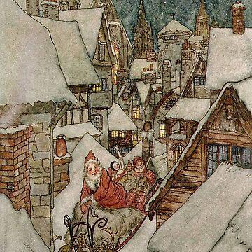 Santa and his sleigh by Geekimpact