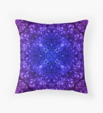 """26. """"Spirit of India: Fleur-Web"""" in deep blue and violet Throw Pillow"""