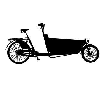 cargo bike black by id2013