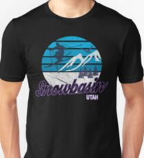 Snowbasin Sun Valley Huntsville Utah USA Ski Resort Snowboarding Winter Skiing Wear T-Shirts Hoodies Sweaters and Jumpers Unisex T-Shirt