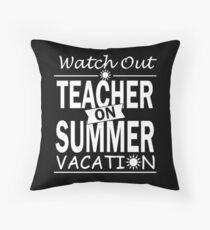 Teacher On Summer Vacation Floor Pillow