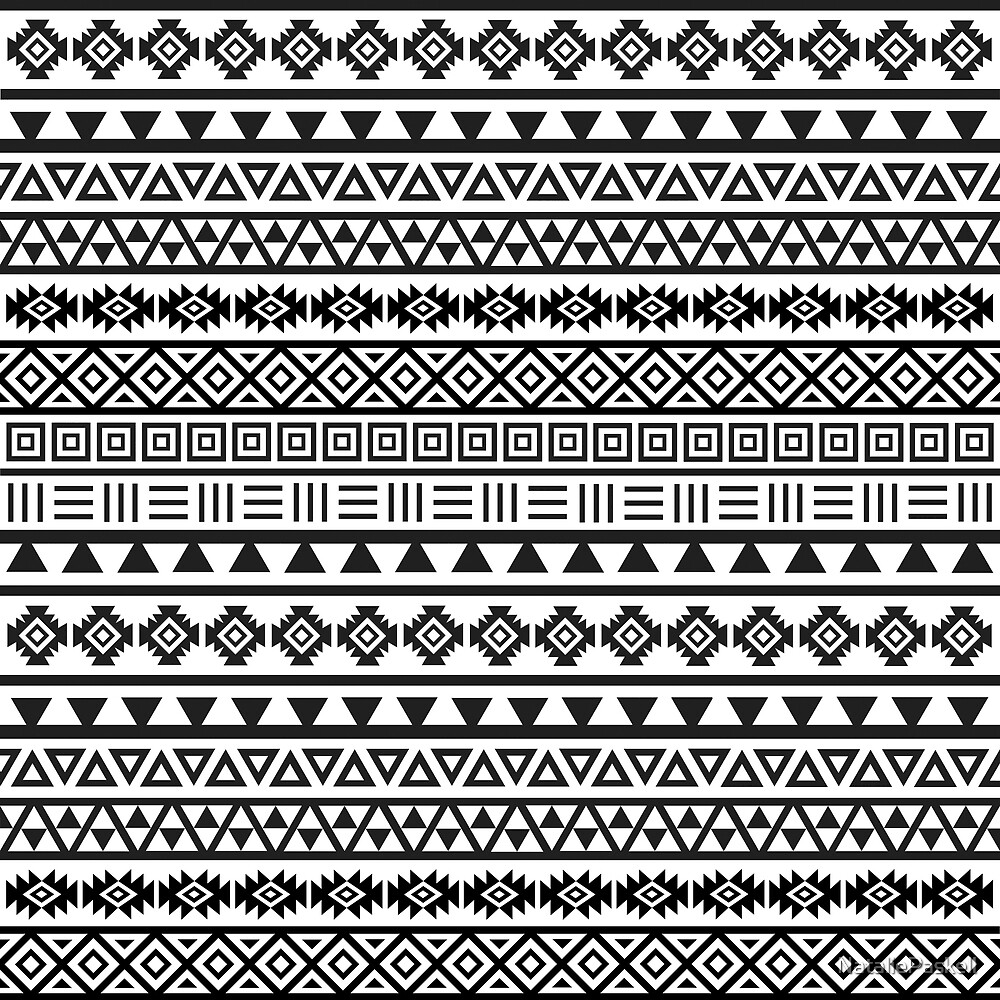 "aztec influence pattern black on white""nataliepaskell 