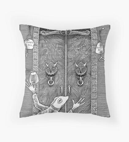 Queen Alice's Door Throw Pillow