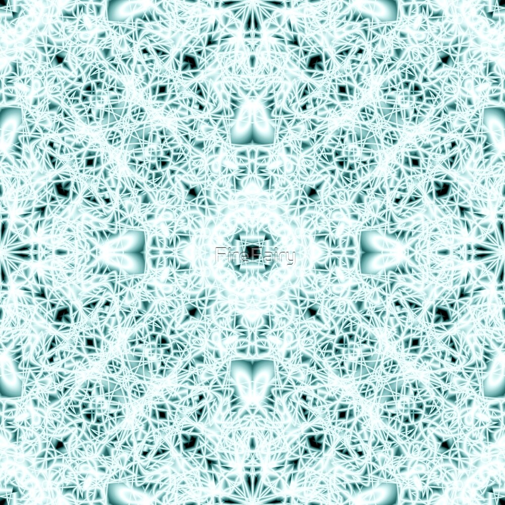 """2. """"Spirit of India: Two Crosses"""" in white and turquoise by FireFairy"""