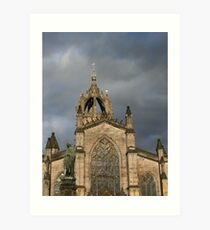 Light before the Storm, St. Giles Cathedral Art Print