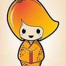 Mango Kokeshi Doll by Bubble Doll