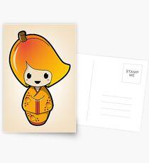 Mango Kokeshi Doll Postcards