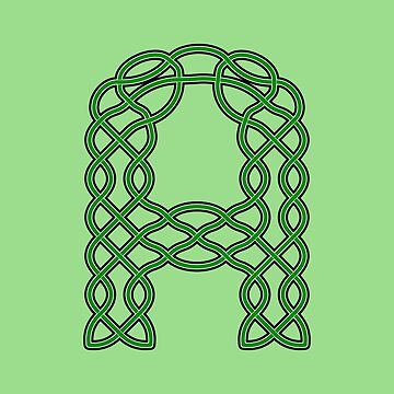 Celtic Knot Green Letter A by Almdrs