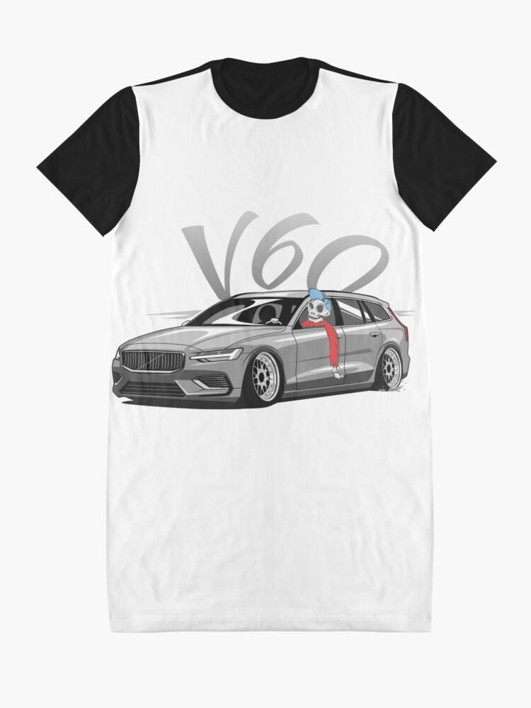 Vista alternativa de Vestido camiseta V60 Skulldriver Low Style