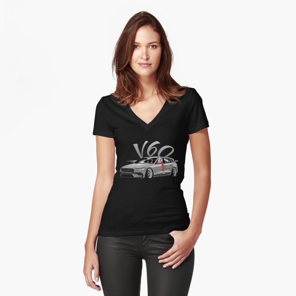 V60 Skulldriver Low Style Camiseta entallada de cuello en V