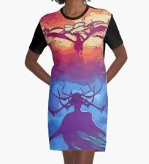 Hela Incites Ragnarok Graphic T-Shirt Dress